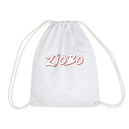 white ziobo - Drawstring Bag