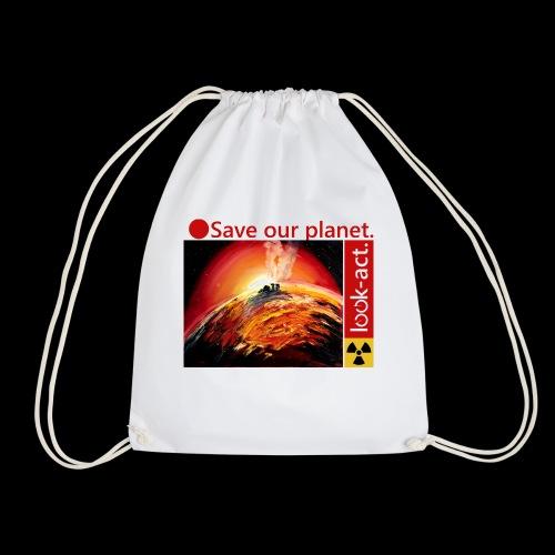 Save our planet. Fukushima Theme - Turnbeutel