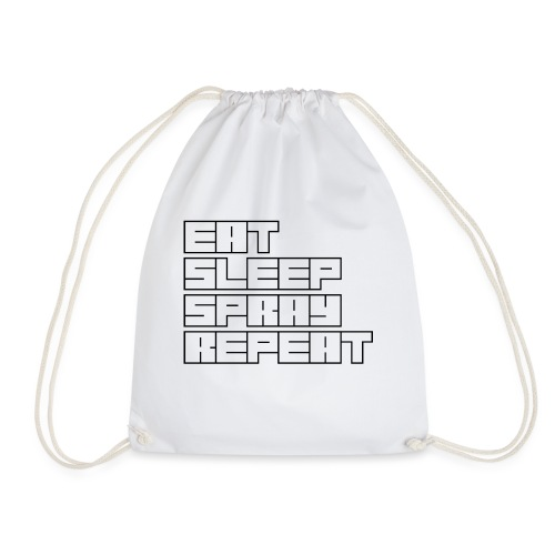 EATSLEEPSPRAYREPEAT - Drawstring Bag