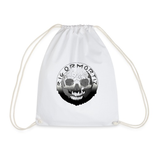 Rigormortiz Black White Design - Drawstring Bag