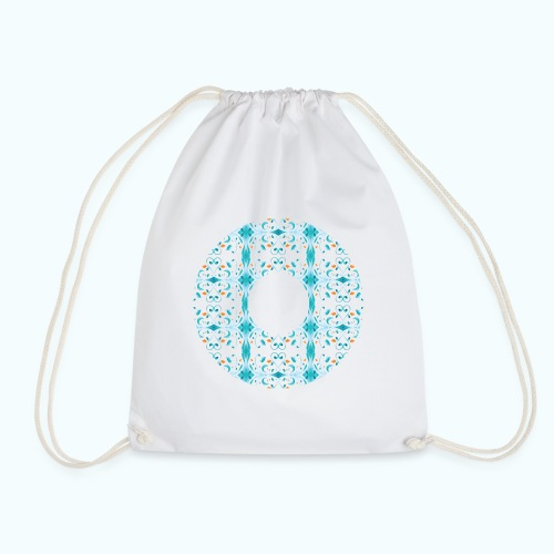 Hippie flowers donut - Drawstring Bag