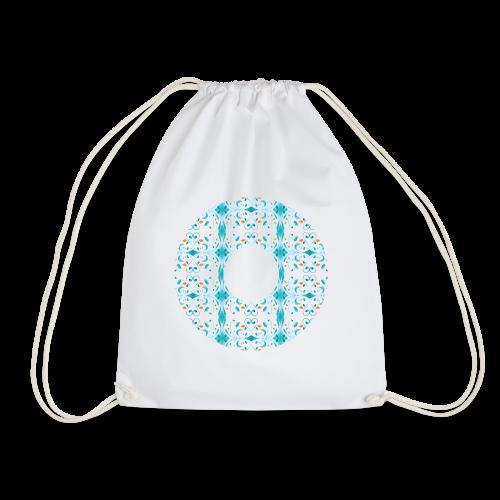 Hippie flowers donut - Drawstring Bag