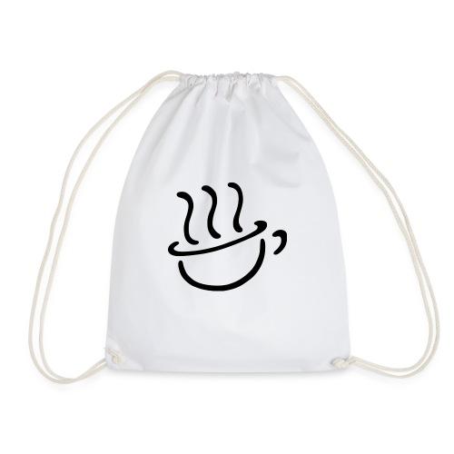 Steaming coffee logo - Mochila saco