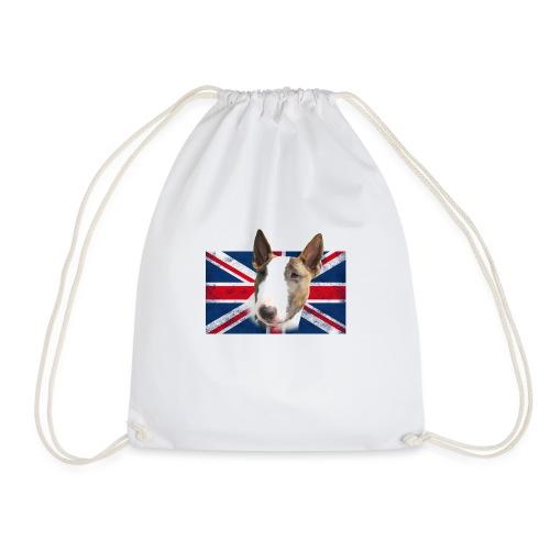Bullterrier UK grunge Flag - Turnbeutel