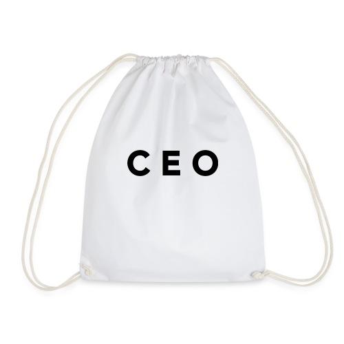 CEO LOGO BLACK - Drawstring Bag