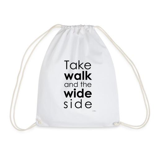 LOU-REDD-walk-black - Drawstring Bag