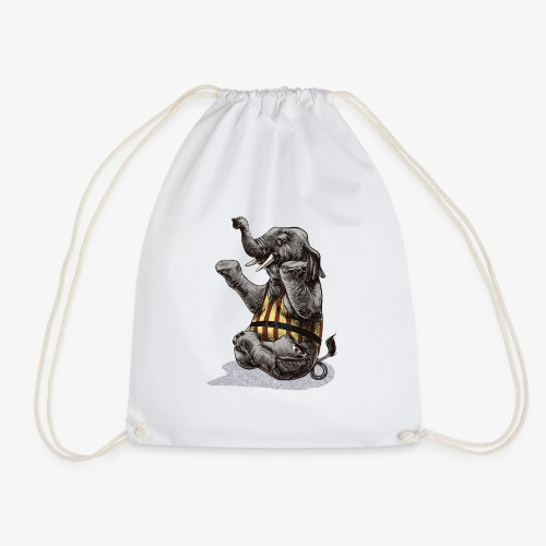Elephant Yoga - Drawstring Bag