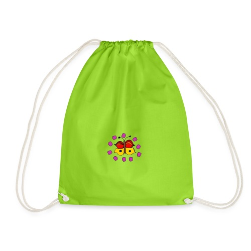 Butterfly colorful - Drawstring Bag