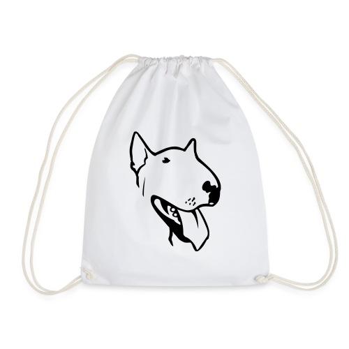 bull terrier2 - Drawstring Bag