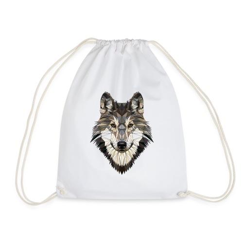 wolf, polygon design, unique - Drawstring Bag