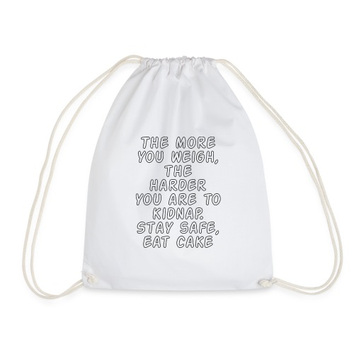 Stay safe, eat cake - Drawstring Bag