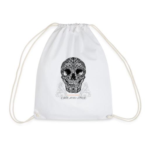 Chicano Style, Motorrad Rocker Skull Totenkopf HD - Turnbeutel
