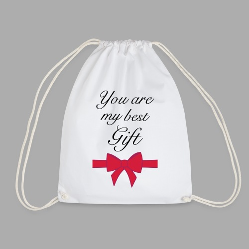you are my best gift - Drawstring Bag
