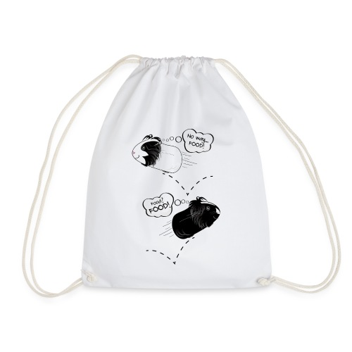 Hungry, happy guinea pigs! - Drawstring Bag