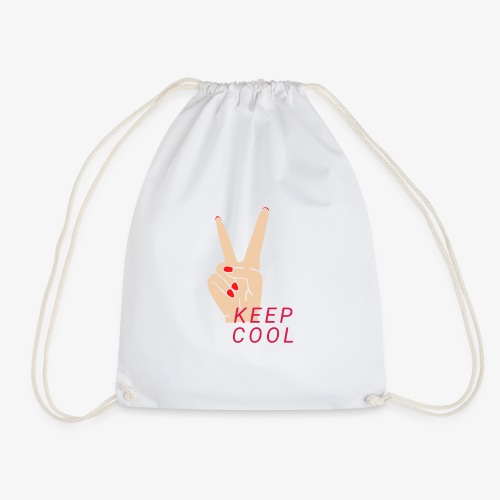 Keep Cool - Keep Calm - Drawstring Bag