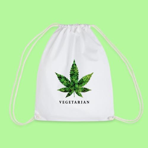 Weed Leaf Vegetarian T-shirt - Drawstring Bag