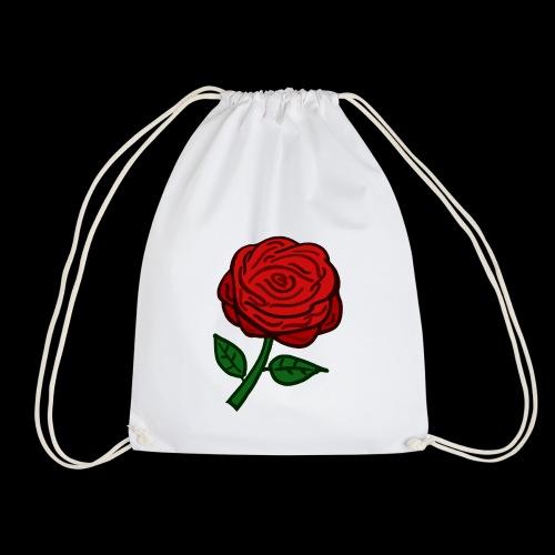 Rote Rose - Turnbeutel
