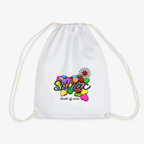 SOLRAC Hearts White - Mochila saco
