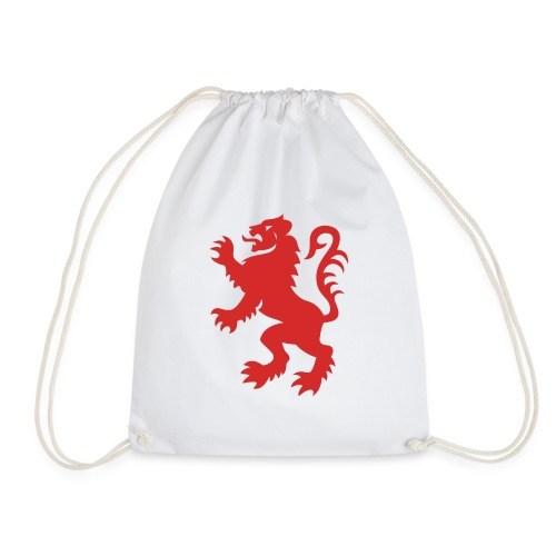 Red Lion Rampant - Drawstring Bag