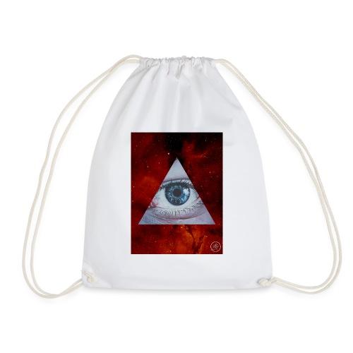 Blue Eyes Red Nebula - Drawstring Bag