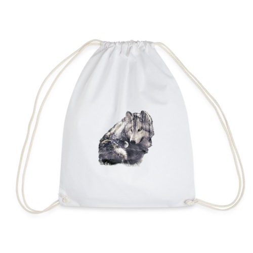 wolf and forest - Mochila saco