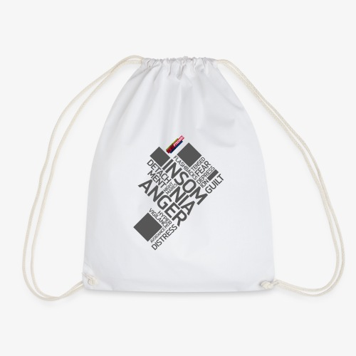 PTSD999 Wordle 5 - Drawstring Bag