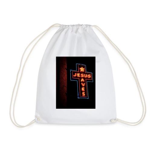 Jesus Saves - Drawstring Bag