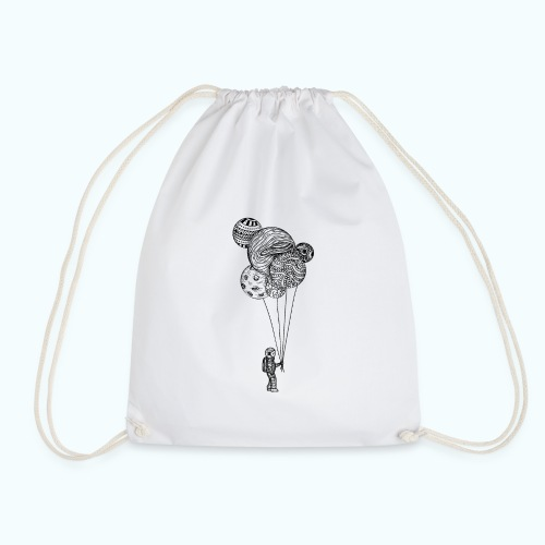 Astronaut with balloons - Drawstring Bag