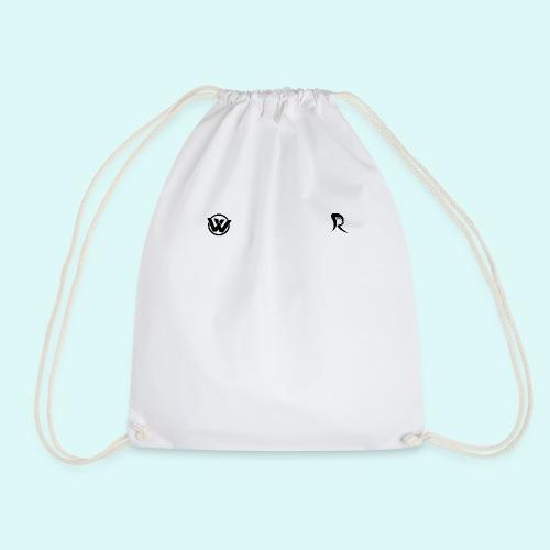WAVE LOGO BLACK - Drawstring Bag