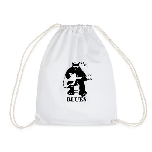 Blues Music Cat Guitar - Drawstring Bag