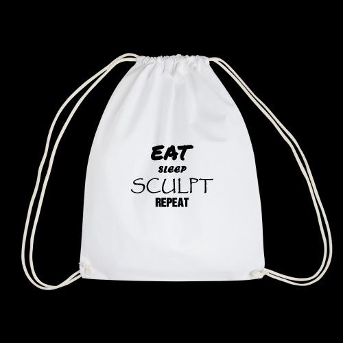 eat sleep noir - Sac de sport léger