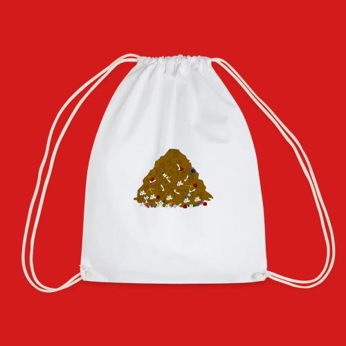 Junky's Junk Pile Logo Design Basic - Drawstring Bag