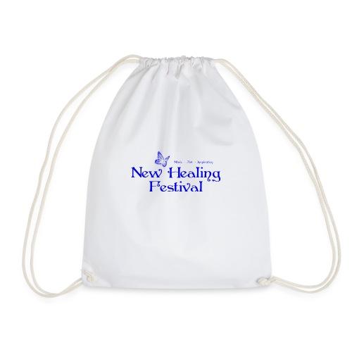 New Healing Logo blau - Turnbeutel
