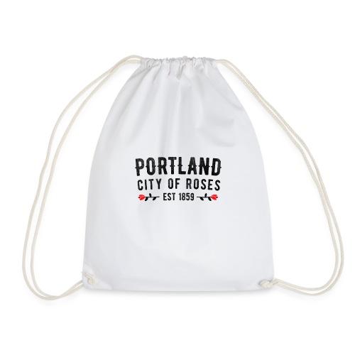 Portland City Of Roses Est 1859 Classic - Drawstring Bag