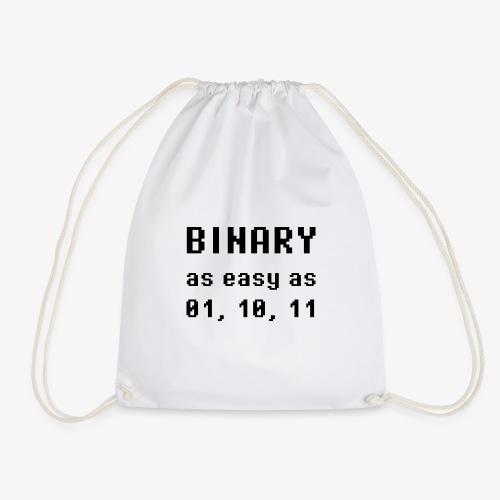 Binary - as easy as 1, 2, 3 (black) - Turnbeutel