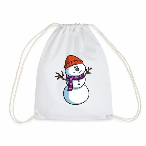 Cartoon Snowman - Drawstring Bag