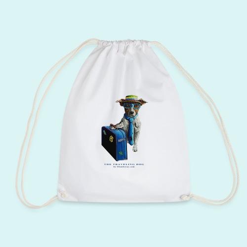 The Traveling Dog - Drawstring Bag