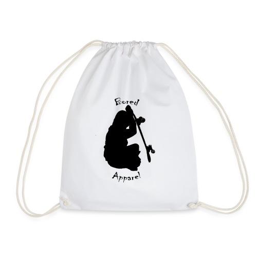 black bored apparel logo - Drawstring Bag
