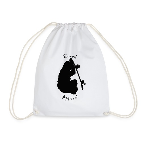black bored apparel logo - Drawstring Bag