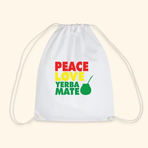 Peace love yerba mate - Worek gimnastyczny