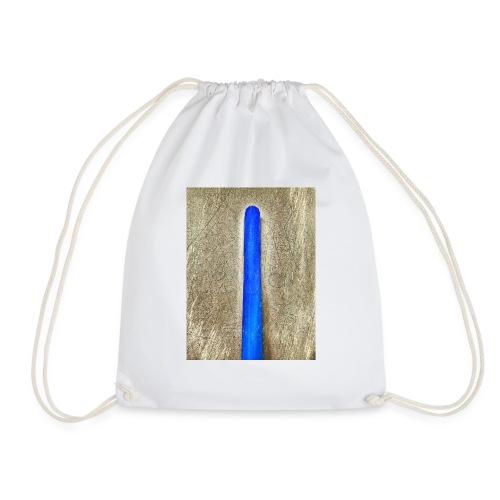 Artwork blue - Drawstring Bag