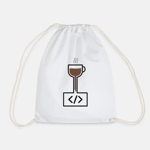 Coffee to Code - Programming T-Shirt - Drawstring Bag