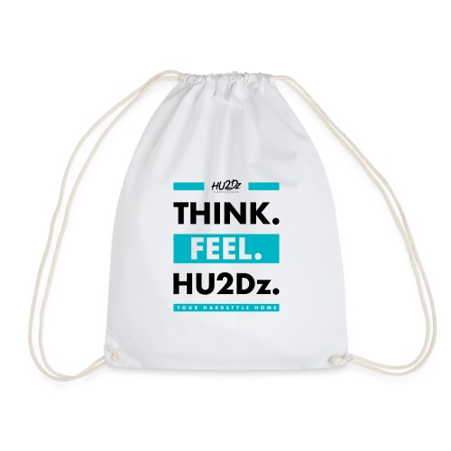 THINK FEEL HU2Dz Black White Shirt - Drawstring Bag