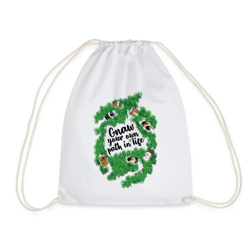 Gnaw your own path in life. (black text) - Drawstring Bag
