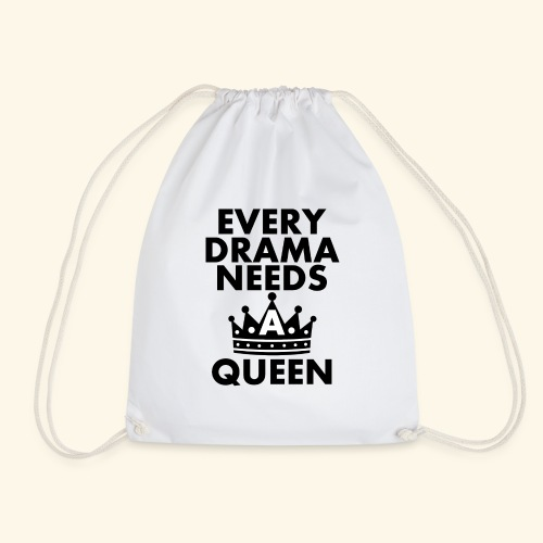 EVERY DRAMA black png - Drawstring Bag