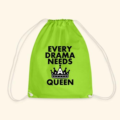 EVERY DRAMA black png - Drawstring Bag