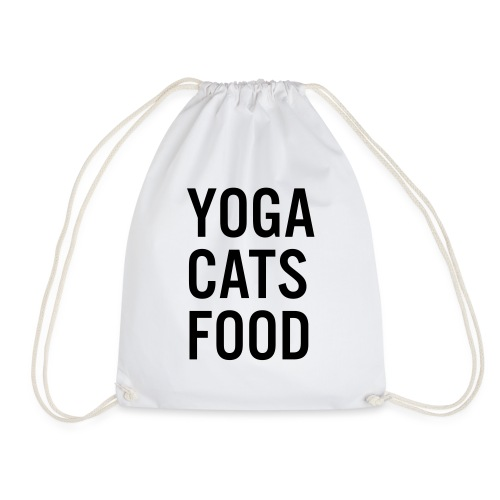 YOGA CATS FOOD LADIES ORGANIC T-SHIRT - Gymnastikpåse