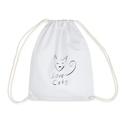 Cats love - Drawstring Bag