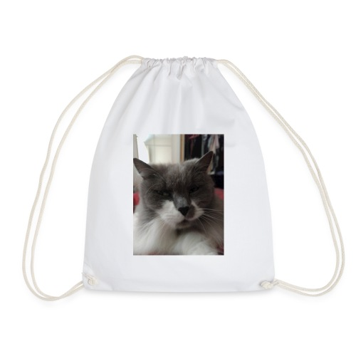 Moody cat - Drawstring Bag