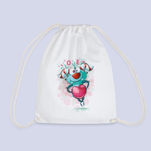 Monster cartoon love design - Drawstring Bag
